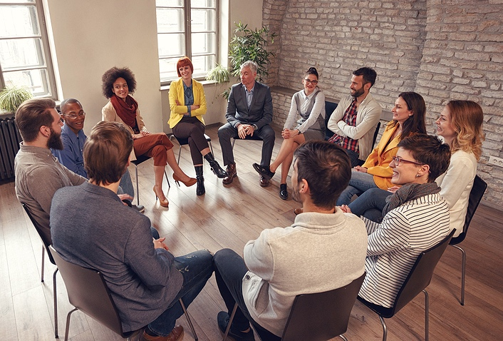 Group therapy provides support, understanding and validation.